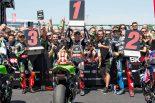 MotoGP | SBK第7戦イタリアのレース2でカワサキが表彰台を独占。レイはダブルウインで今季4勝目を挙げる