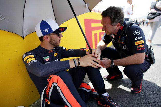 2019年F1第8戦フランスGP ピエール・ガスリー(レッドブル・ホンダ)とチーム代表クリスチャン・ホーナー