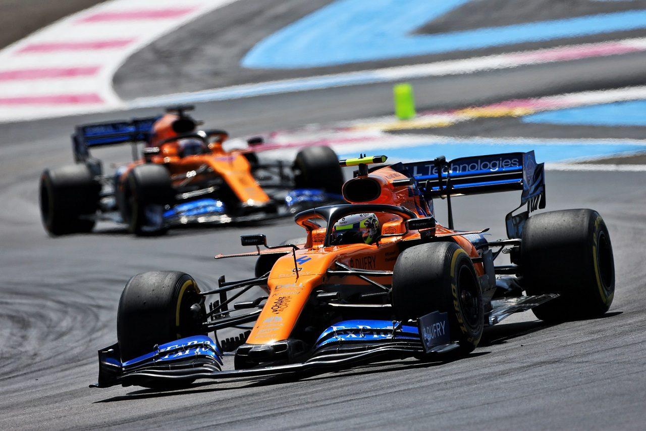 2019年F1第8戦フランスGP ランド・ノリスとカルロス・サインツJr.(マクラーレン)
