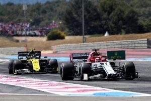 F1 | 2019年F1第8戦フランスGP キミ・ライコネン(アルファロメオ)とニコ・ヒュルケンベルグ(ルノー)がバトル