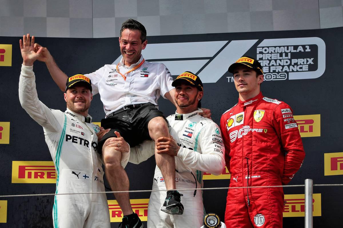 2019年F1第8戦フランスGP ルイス・ハミルトン、バルテリ・ボッタス、シャルル・ルクレール
