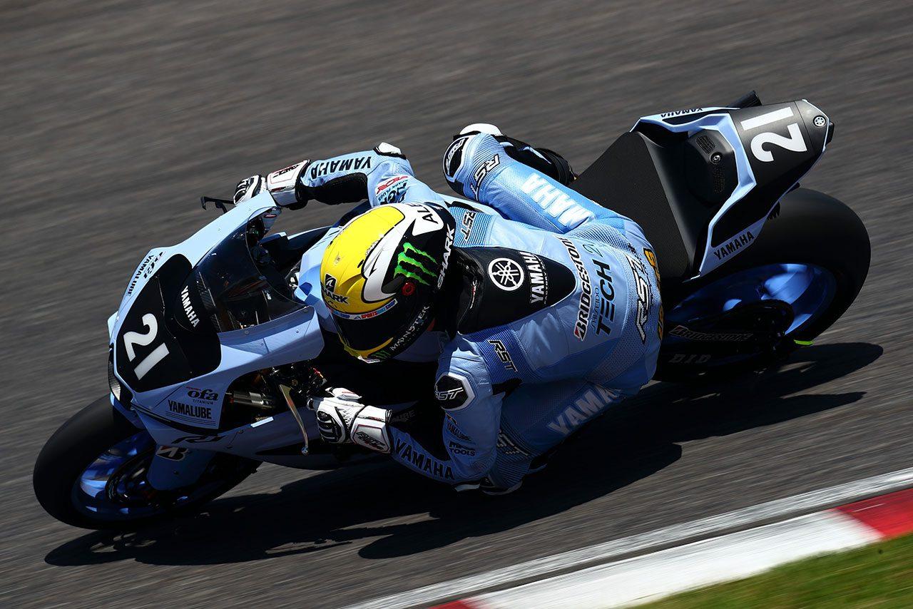 鈴鹿8耐 テック21復刻カラーのヤマハyzf R1が初走行 鈴鹿8耐5連覇に