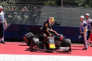 F1 | フェルスタッペン「競争力に手応え」。クラッシュでマシン大破もペナルティの懸念なし:レッドブル・ホンダ F1オーストリアGP金曜
