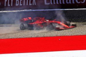 F1 | ベッテル「コースオフの影響は心配ない。フランスで試したパーツのテストに集中した」:フェラーリ F1オーストリアGP金曜