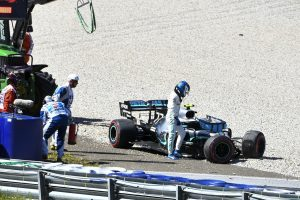 F1 | ボッタス、23Gの大クラッシュ「小さなミスが高くついた。でもそういうサーキットは大好き」メルセデス F1オーストリアGP金曜