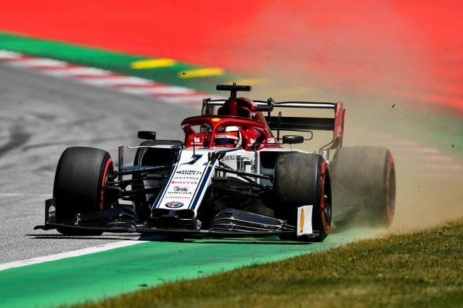 2019年F1第9戦オーストリアGP予選Q3に進出したキミ・ライコネン(アルファロメオ)