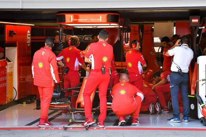 2019年F1第9戦オーストリアGP マシントラブルで予選Q3を走れなかったセバスチャン・ベッテル(フェラーリ)