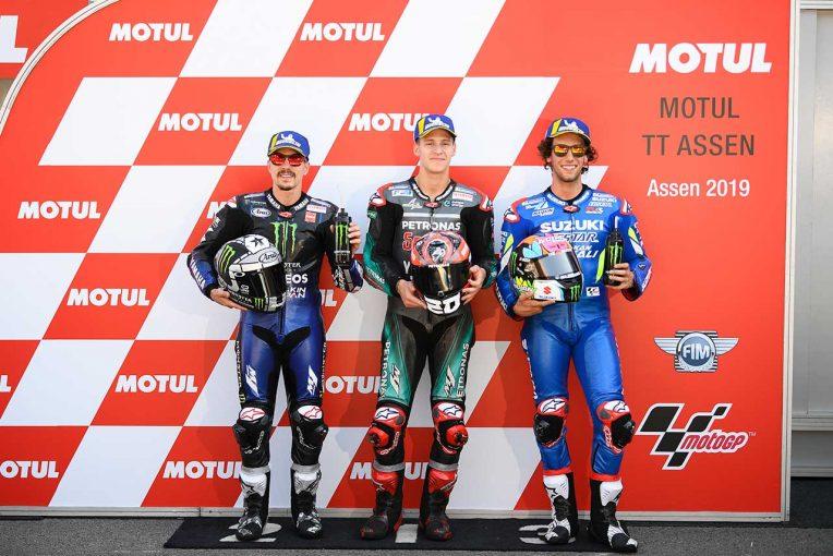 MotoGP   クアルタラロ、予選の「最後の2ラップはとても速かった」/MotoGP第8戦オランダGP 予選トップ3コメント