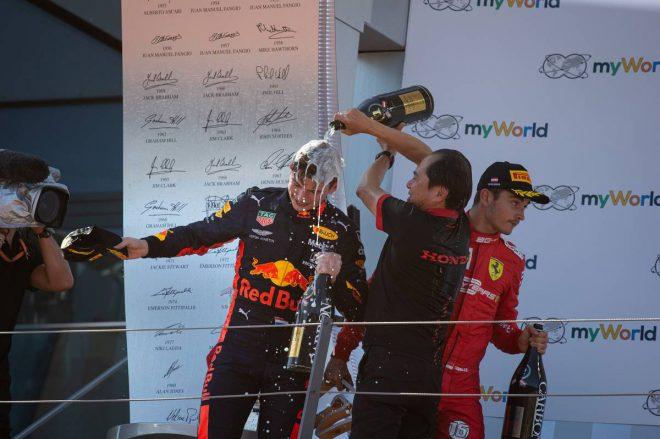 2019年F1第9戦オーストリアGP マックス・フェルスタッペン(レッドブル・ホンダ)、ホンダF1田辺豊治テクニカルディレクター