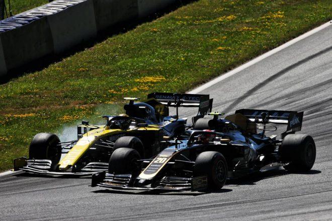 2019年F1第9戦オーストリアGP決勝 ニコ・ヒュルケンベルグとケビン・マグヌッセンのバトル