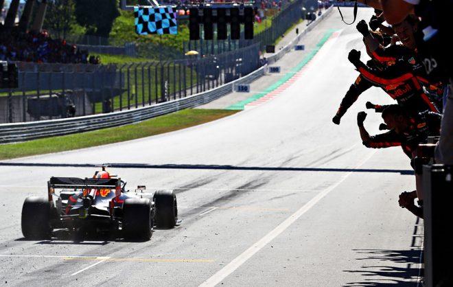 2019年F1第9戦オーストリアGPで優勝を飾ったマックス・フェルスタッペン