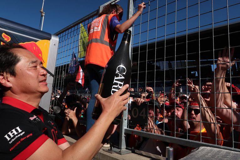 F1 | ホンダF1田辺TD優勝インタビュー(1):チームのホームで限界まで引き出したエンジン性能。「レース中に確認したうえで『まだ行ける』と伝えました」