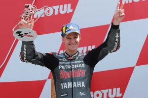 MotoGP | クアルタラロ、MotoGPオランダGPで腕の状態に苦戦しながら一時はトップ走行。「すばらしい瞬間だった」