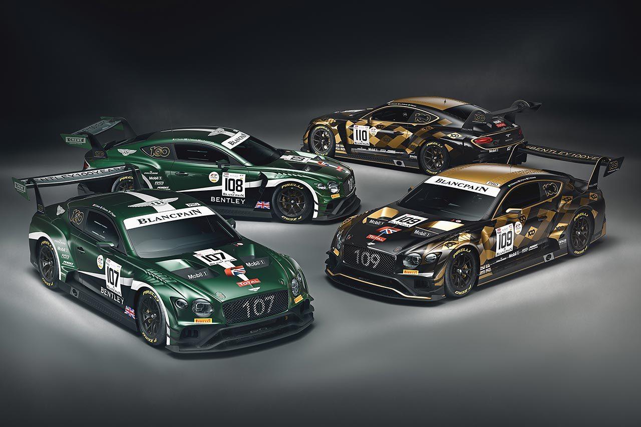 ベントレー、スパ24時間に2種類の100周年スペシャルカラーのコンチネンタルGT3を投入へ