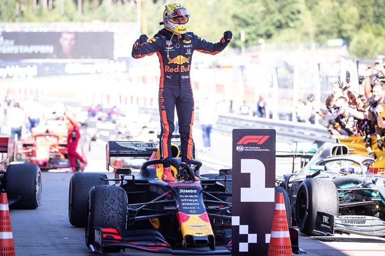 F1   ホンダ、13年ぶりF1勝利を記念し、2019年カラーのレッドブルF1マシンを展示