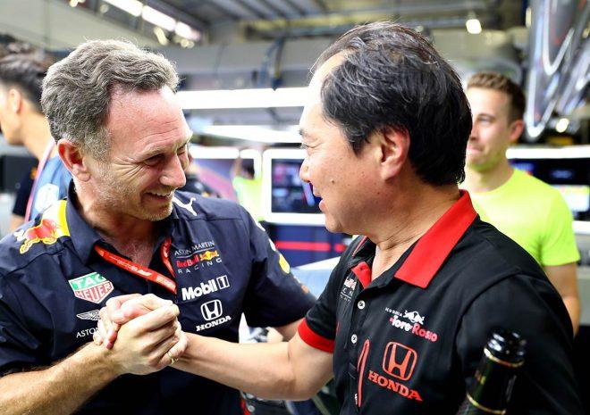2019年F1第9戦オーストリアGP クリスチャン・ホーナー代表、ホンダの田辺豊治F1テクニカルディレクター