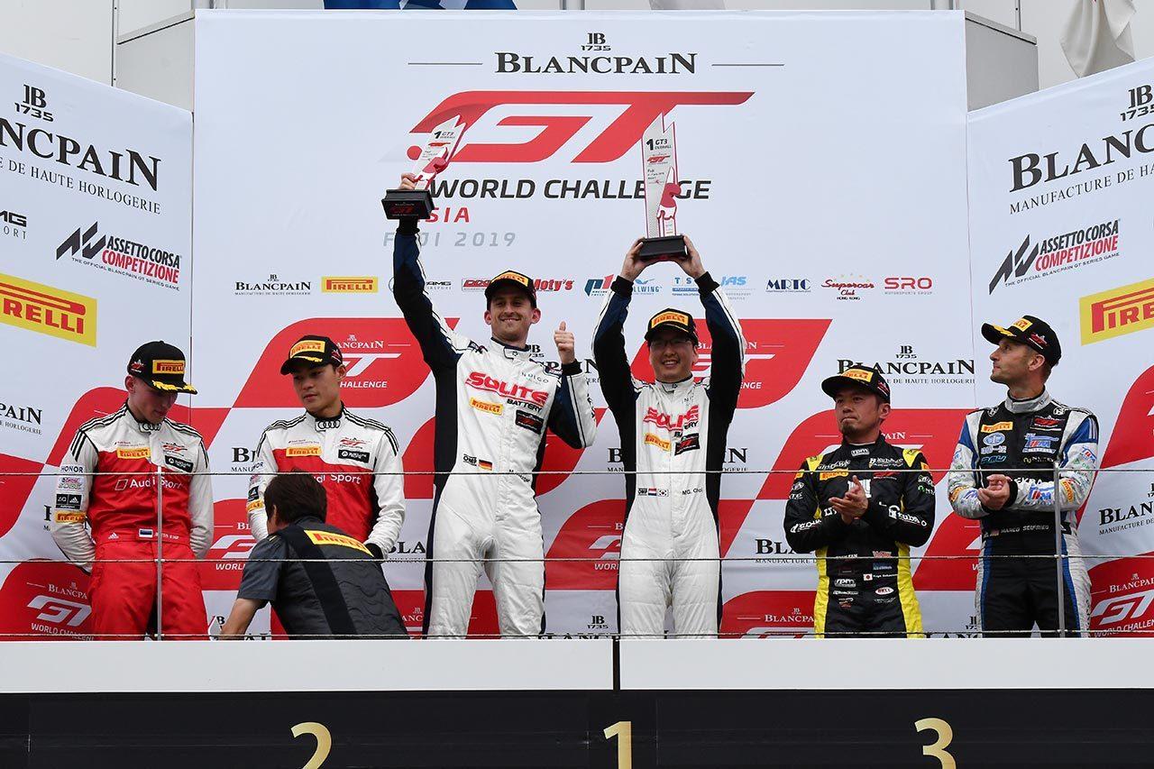 ブランパンGTアジア富士:97号車メルセデスが優勝。坂本組が3位に。プロ-アマは永井組が制す