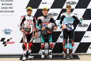 MotoGP | 佐々木歩夢、MotoGPドイツGPで自身初のMoto3ポール獲得に取り戻した自信と笑顔。「勝ってやるぞ」とレースに意気込み
