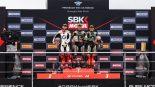 SBK第8戦イギリス レース1表彰台