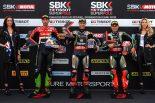 SBK第8戦イギリス スーパーポール・レース表彰台