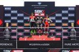 SBK第8戦イギリス レース2表彰台
