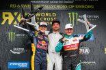 2019年世界ラリークロス第6戦スウェーデン表彰台