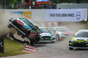 ラリー/WRC | Q1レース1でクラッシュしたレイニス・ニティッシュ(ヒュンダイi20スーパーカー)