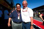 ホンダの倉石誠司副社長とレッドブルのモータースポーツアドバイザーを務めるヘルムート・マルコ