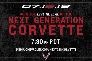 シボレーが第8世代コルベットの世界初公開イベントをライブ配信する