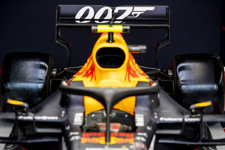 F1 | レッドブルRB15・ホンダ、F1イギリスGPで「007」スペシャルカラーに