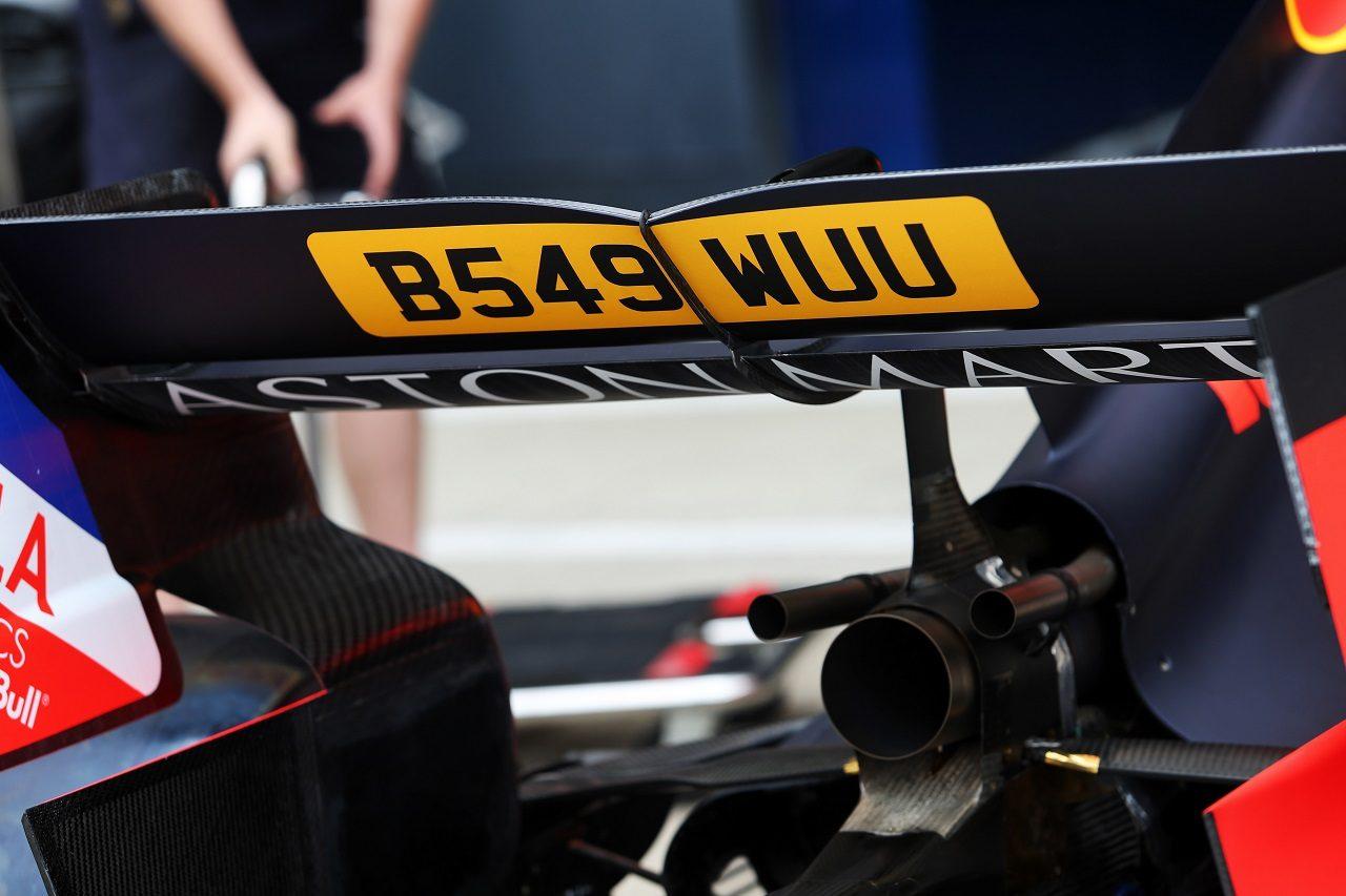2019年F1第10戦イギリスGP 「007」スペシャルカラーのレッドブルRB15・ホンダ