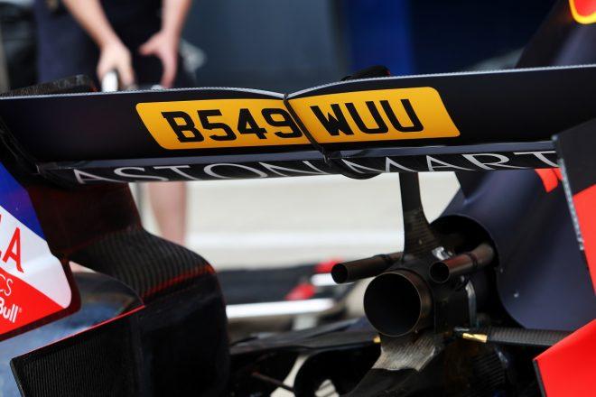 2019年F1イギリスGP木曜 「007」スペシャルカラーリングが施されたレッドブルRB15・ホンダ