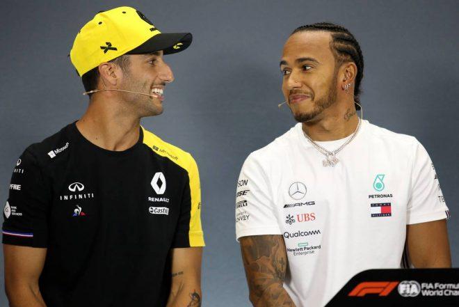 2019年F1第10戦イギリスGP木曜会見 ルイス・ハミルトン、ダニエル・リカルド