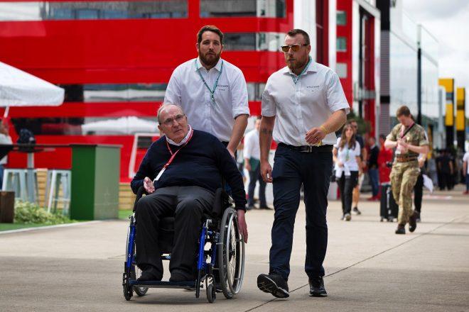 2019年F1第10戦イギリスGP木曜 シルバーストンに姿を見せたウイリアムズF1チーム代表フランク・ウイリアムズ
