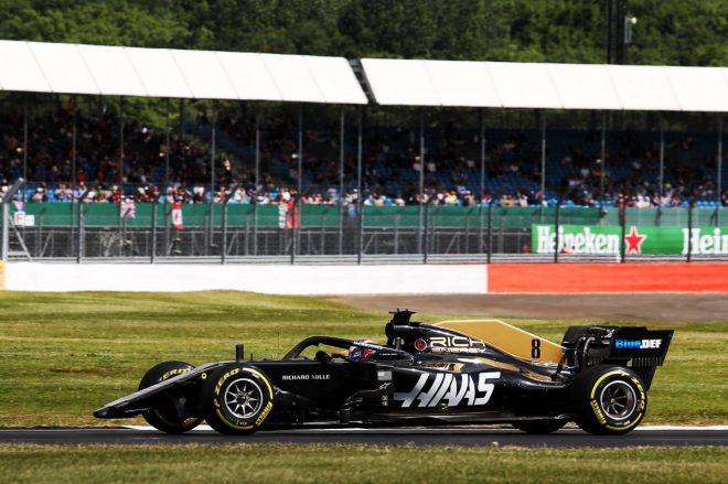 2019年F1第10戦イギリスGP FP1でフロントウイングを失ってしまったロマン・グロージャン