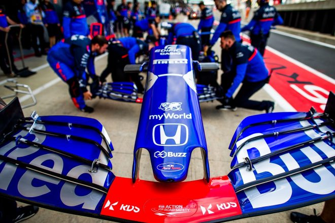 2019年F1第10戦イギリスGP金曜 ダニール・クビアトのトロロッソSTR14・ホンダ
