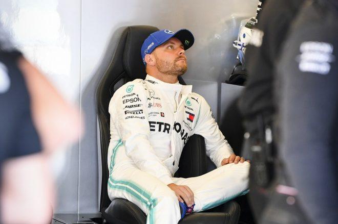 2019年F1第10戦イギリスGP 金曜プラクティス中のバルテリ・ボッタス(メルセデス)