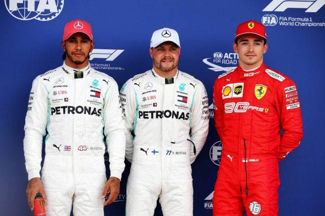 2019年F1第10戦イギリスGP予選 PP:バルテリ・ボッタス、2番手:ルイス・ハミルトン、3番手:シャルル・ルクレール