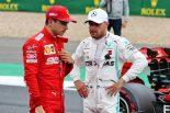 2019年F1第10戦イギリスGP ポールを獲得したバルテリ・ボッタス、3番手のシャルル・ルクレール