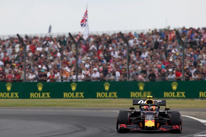 2019年F1第10戦イギリスGP土曜 ピエール・ガスリーが乗るレッドブルRB15・ホンダ