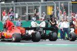 2019年F1第10戦イギリスGP 予選PPのバルテリ・ボッタスと2番手ルイス・ハミルトン