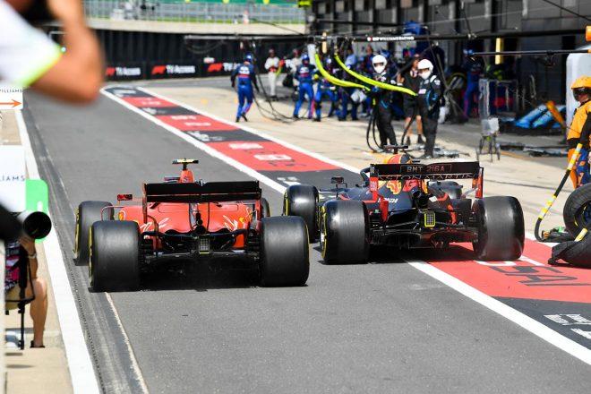 2019年F1第10戦イギリスGP決勝 ピットインでわずかにレッドブルが速くマックス・フェルスタッペンがシャルル・ルクレールの前へ