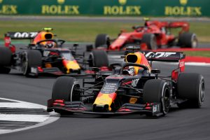 2019年F1第10戦イギリスGP日曜 マックス・フェルスタッペンとピエール・ガスリー(レッドブル・ホンダ)
