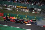 2019年F1第10戦イギリスGP決勝 セバスチャン・ベッテル(フェラーリ)がマックス・フェルスタッペン(レッドブル・ホンダ)に追突