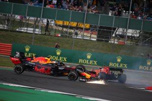F1 | 2019年F1第10戦イギリスGP決勝 マックス・フェルスタッペン(レッドブル・ホンダ)とセバスチャン・ベッテル(フェラーリ)が接触