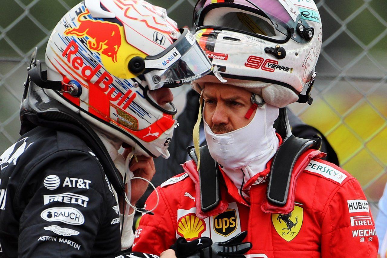 2019年F1第10戦イギリスGP マックス・フェルスタッペン(レッドブル・ホンダ)とセバスチャン・ベッテル(フェラーリ)
