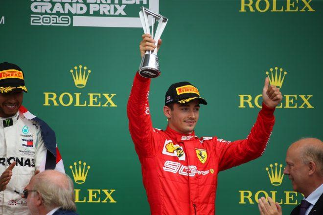 2019年F1第10戦イギリスGP日曜 シャルル・ルクレール(フェラーリ)が3位を獲得