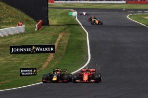 2019年F1第10戦イギリスGP日曜 シャルル・ルクレール(フェラーリ)とマックス・フェルスタッペン(レッドブル・ホンダ)
