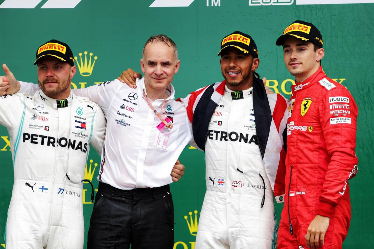 2019年F1第10戦イギリスGP 表彰台