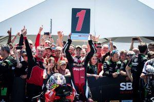 MotoGP | ドゥカティ、SBK第9戦アメリカで分かれた明暗。1年半ぶりの勝利に湧いたデイビス、左肩負傷のバウティスタ